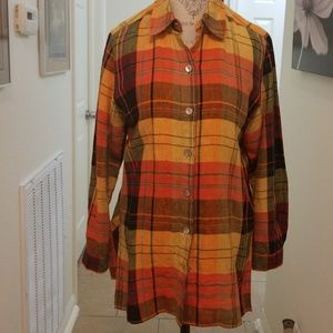 Chico's shirt in full color plaid, 1=10 2For $25!